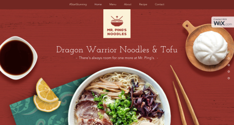 A microsite within a microsite, of course they had to create the actual noodle site